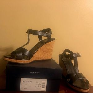 Ladies Black Cole Haan Sandal - Brand new, Size 11